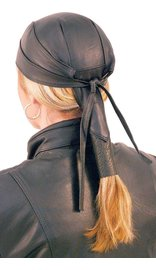 Skull Cap w/Pony Tail Hair Wrap #BAND316