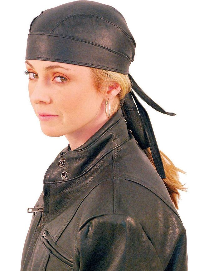 Skull Cap w/Pony Tail Hair Wrap #BAND316
