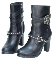Ride Tec Triple Strap High Heel Leather Riding Boots #BL8545SSK
