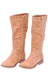 Taupe Knee High Western Boots #BLC1DALT