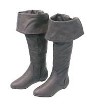 Women's Dark Gray Convertible Thigh High Boots w/Flat Heel #BLC39804GY