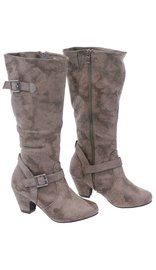 Tall Vintage Khaki Boots w/Cowboy Heel #BLC51N