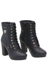 Milwaukee Milwaukee Lace Up High Heel Riding Boots #BLC9418LZK
