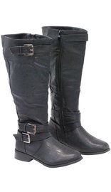 Multi-Strap Riding Boots w/1 in. Heel #BLC03APPK