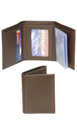 Brown Leather Trifold Wallet - Special #WM29N