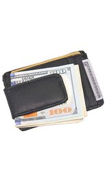 Leather Magnetic Money Clip & ID Case #WM46MCK