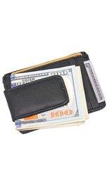 Leather Magnetic Money Clip & ID Case #WM46MCK