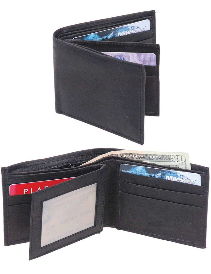 Men's Bifold Leather Wallet - Factory Seconds #WMB0002K