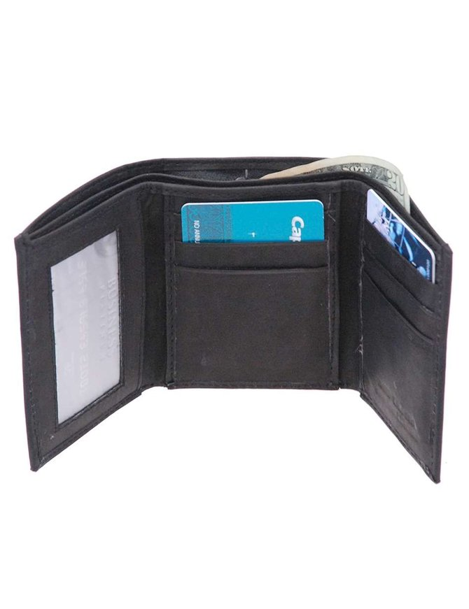 Men's Trifold Leather Wallet - Factory Seconds # WMT0003K