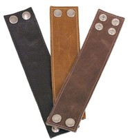 Made in USA Leather Concealed Wrist Wallet - 2 Inch Wide #WW4024