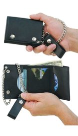 USA Brand Trifold Chain Wallet #WC30423
