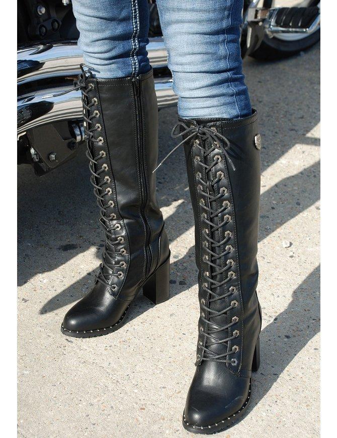 Milwaukee Milwaukee Lace Up Knee High Studded Sole Boots #BLC9442SLK