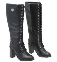 Milwaukee Milwaukee Lace Up Knee High Studded Sole Boots #BLC9442SLK