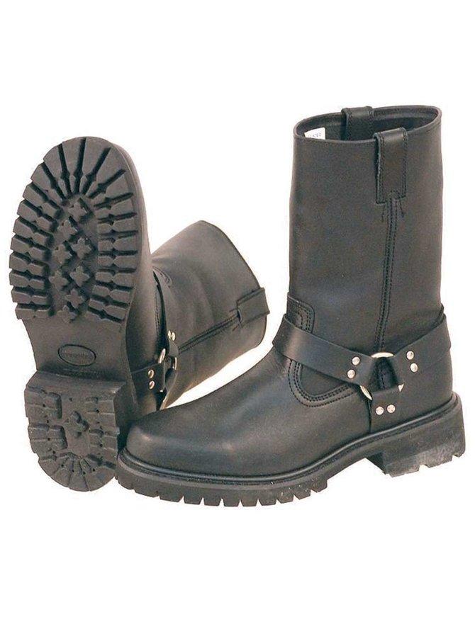 Round Toe Lug Sole Harness Boot #BM1006HM