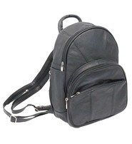 Small Size Round Top Zipper Backpack Purse w/Organizer #BPS3303K