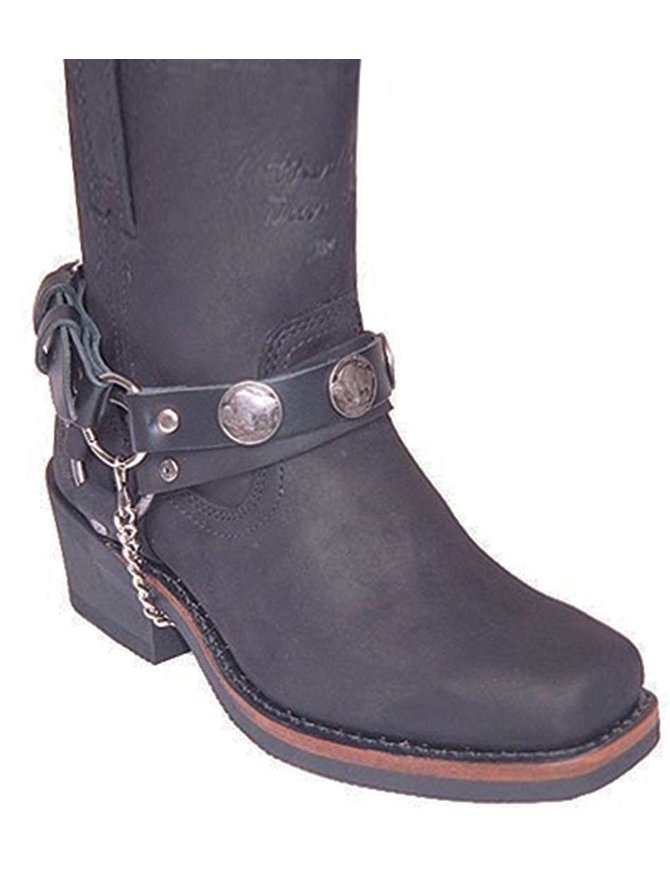 Jamin Leather Buffalo Nickel Boot Straps #BS101BN