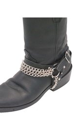 Jamin Leather Triple Chain Boot Straps #BS31 -