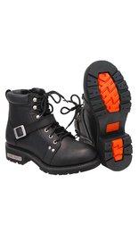 """Men's 6"""" Ride Tecs Lace Up Riding Boots w/Buckle Strap #BM9143LK"""