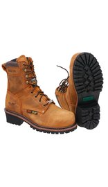 Brown Ultimate Work Boots w/Wide Steel Toe #BM9490WSTN