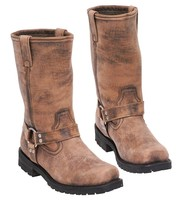 Men's Vintage Brown Ride Tech Harness Boots #BMA14421N