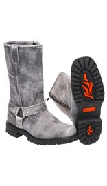 Men's Vintage Gray Ride Tecs Harness Boots w/Zipper #BMA14422ZGY