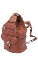 Brown Cowhide Expandable Shoulder Bag Backpack #BP3611N