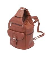 Brown Cowhide Expandable Shoulder Bag Backpack #BP3611N