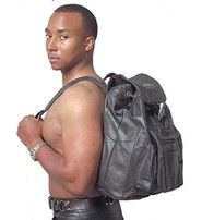 Extra Large Leather Backpack #BP503