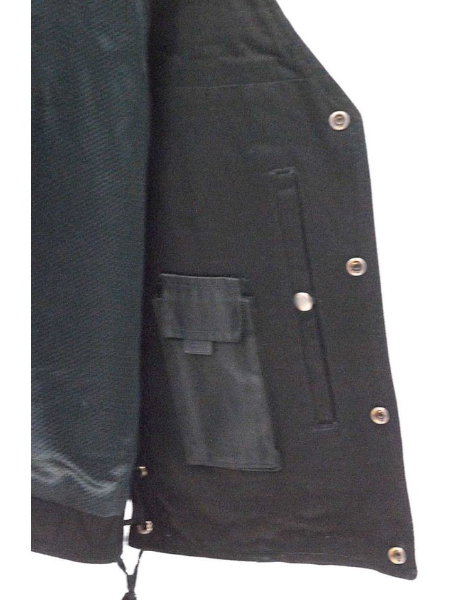 Daniel Smart Men's Dual Inside Pocket Black Denim CCW Vest #VMC905GLK