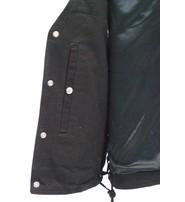 Daniel Smart Men's Dual Inside Pocket Black Denim CCW Vest #VMC905GLK