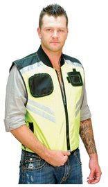 Unik Bright Green Motorcycle Safety Vest #VMC309GN (S-6X)