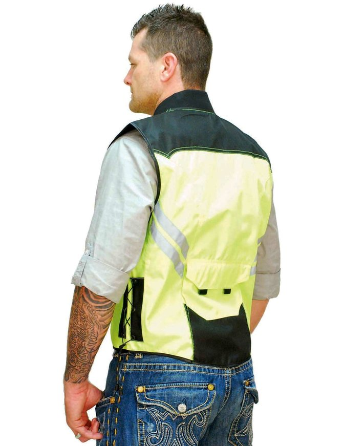 Unik Bright Green Motorcycle Safety Vest #VMC309GN