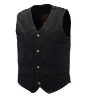 Milwaukee Black Denim Vest w/Large Inside Pockets #VMC42700K