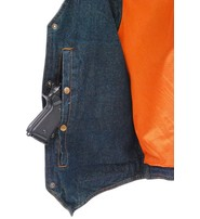 Milwaukee Blue Denim Vest w/Large Inside Pockets #VMC42703U