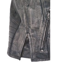 Men's Vintage Gray Quilt Shoulder Leather CCW Pocket Vest #VMA6715QGY