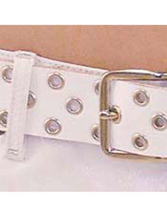 Made in USA White Heavy Duty Grommet Belt #BT114GRW
