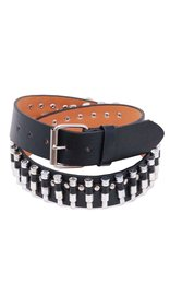 Black Leather Economy Bullet Belt #BT11BUL -