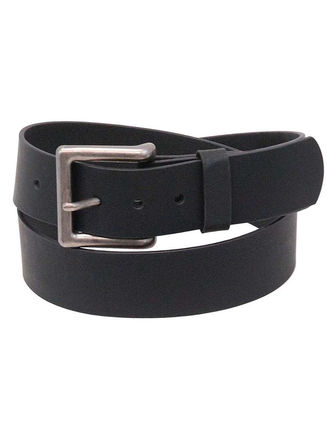 First MFG Extra Wide Black Oil Tanned Leather Belt #BT16001WK