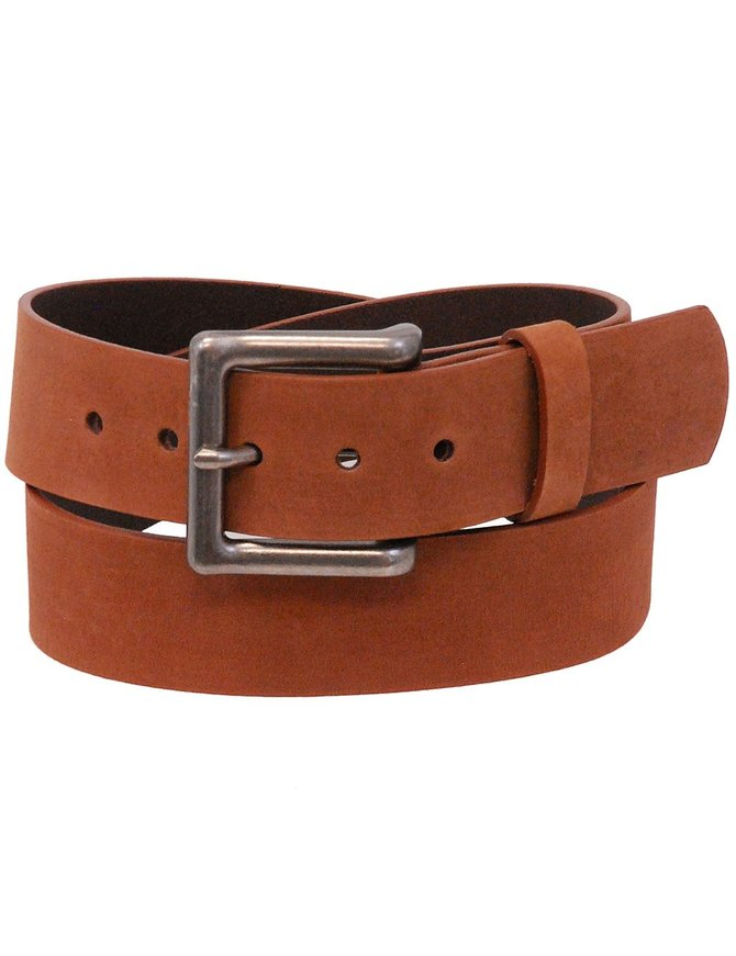 First MFG Brown Oil Tanned Extra Wide Leather Belt #BT16002WN