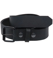 Jamin Leather Comfortably Soft Premium Black Leather Belt With Removable Buckle #BT1800KK