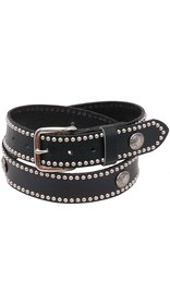 Made in USA Heavy Buffalo Nickel Stud Trim Solid Leather Belt #BT24BUFST -