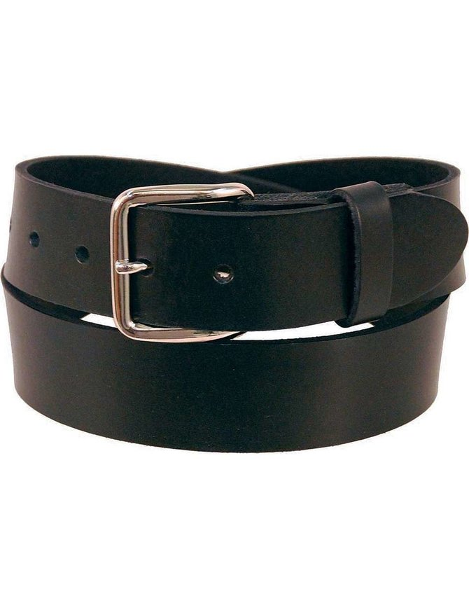 USA Brand Heavy Duty Black Leather Belt #BT302K