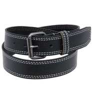 USA Brand Heavy Leather Belt With Double White Stitching #BT24WS2K