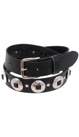 Made in USA Heavy Solid Leather Concho Belt - SPECIAL #BT3CK