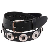 USA Brand Heavy Solid Leather Concho Belt - SPECIAL #BT3CK
