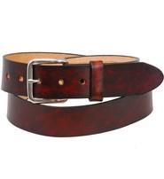 Made in USA Heavy Vintage Plain Brown Leather Belt #BTA2140N