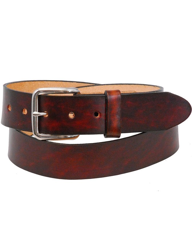 USA Brand Heavy Vintage Plain Brown Leather Belt #BTA2140N