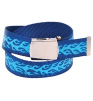 Blue Flame Durable Canvas Web Belt - SPECIAL #BTBMTL04FU