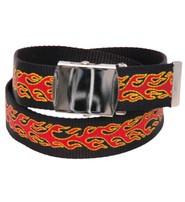 Red Flame Durable Canvas Web Belt - SPECIAL #BTBMTL05FR