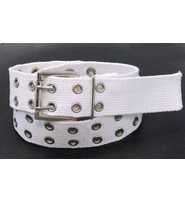 White Double Grommet Cargo Belt #BTC29GW